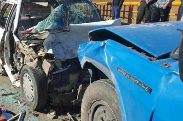 ۲ کشته و یک زخمی براثر تصادف در محور اقلید فارس